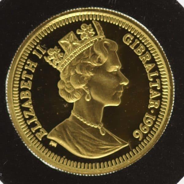 grossbritannien, gibraltar - Gibraltar Elisabeth II. Ecu 4 Coin Set 1996