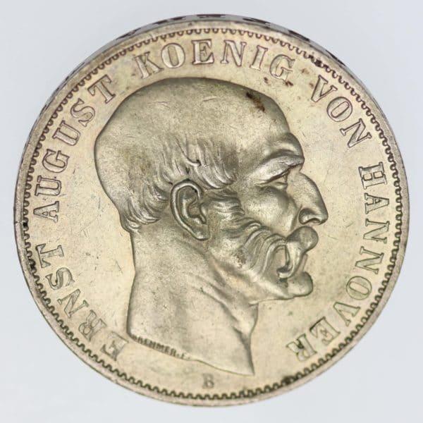 altdeutschland-deutsche-silbermuenzen - Hannover Ernst August Taler 1851