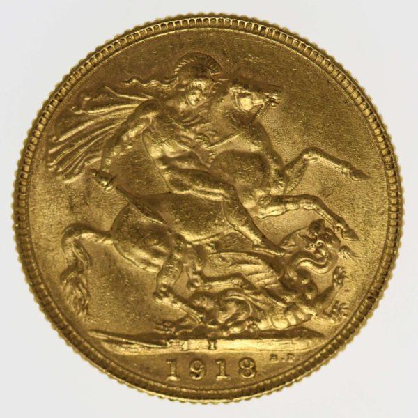 indien - Indien Georg V. Sovereign 1918