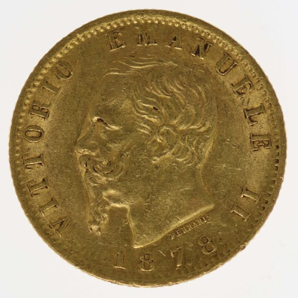 italien - Italien Vittorio Emanuele II. 20 Lire 1878