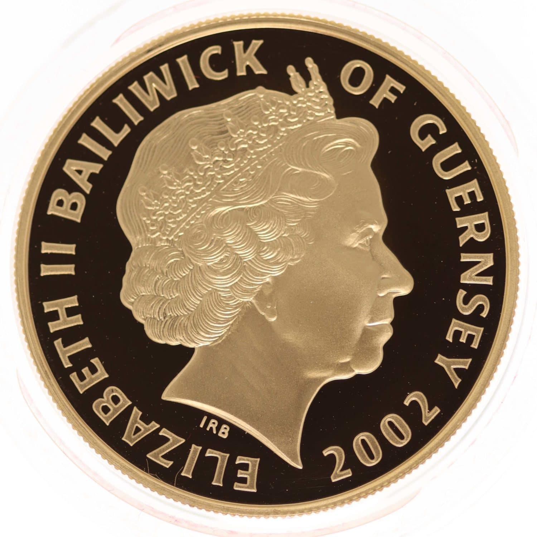 grossbritannien - Guernsey Elisabeth II. 5 Pounds 2002 Piedfort
