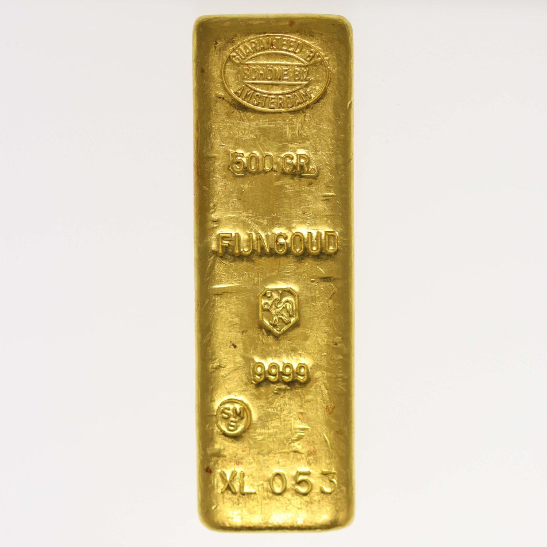 goldbarren - Goldbarren 500 Gramm Schöne Edelmetaal B.V.