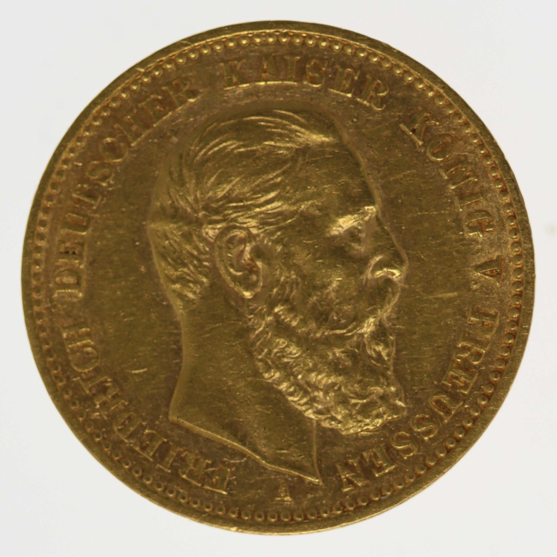 deutsches-kaiserreich-ab-1871 - Preussen Friedrich III. 10 Mark 1888