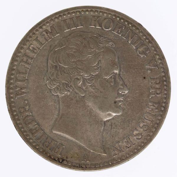 altdeutschland-deutsche-silbermuenzen - Preussen Friedrich Wilhelm III. Taler 1834