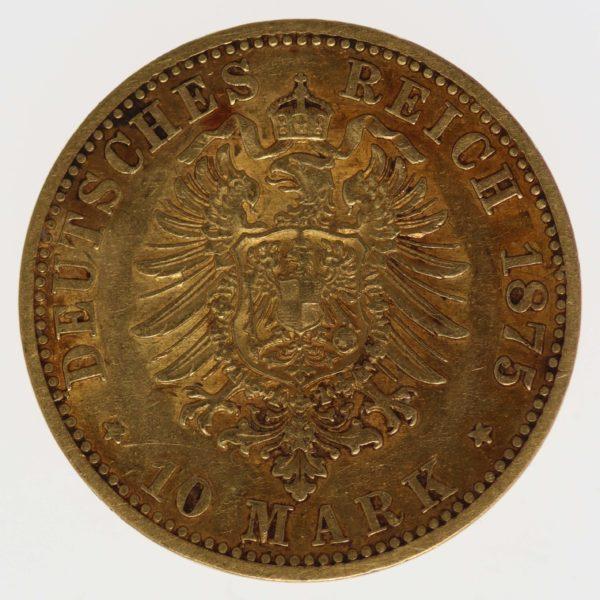 deutsches-kaiserreich-ab-1871 - Preussen Wilhelm I. 10 Mark 1875 A