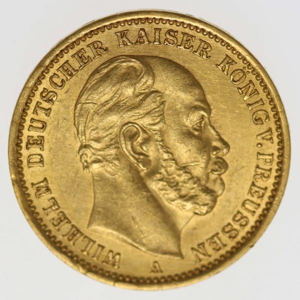 deutsches-kaiserreich-ab-1871 - Preussen Wilhelm I. 20 Mark 1876 A