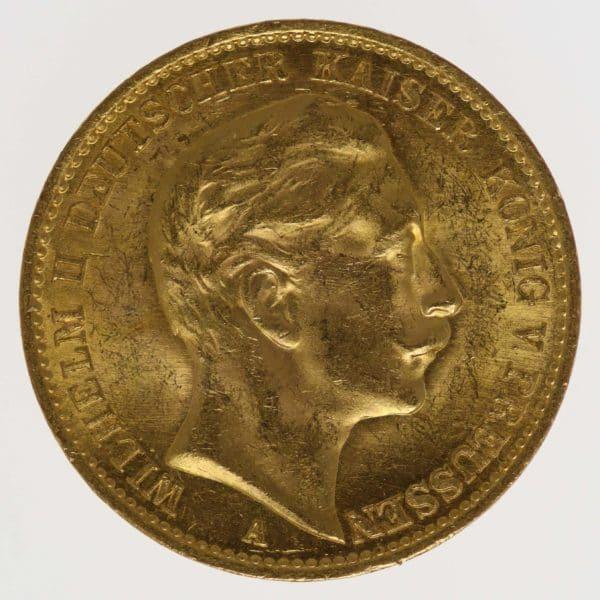 deutsches-kaiserreich-ab-1871 - Preussen Wilhelm II.20 Mark1912 A