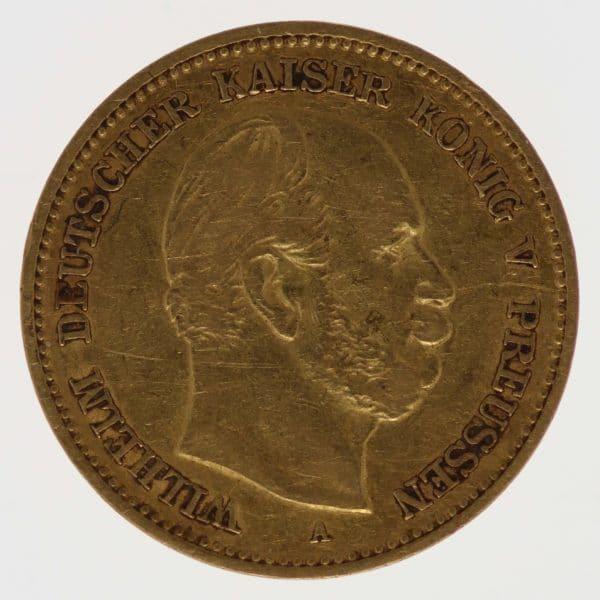 deutsches-kaiserreich-ab-1871 - Preussen Wilhelm I. 5 Mark 1877 A