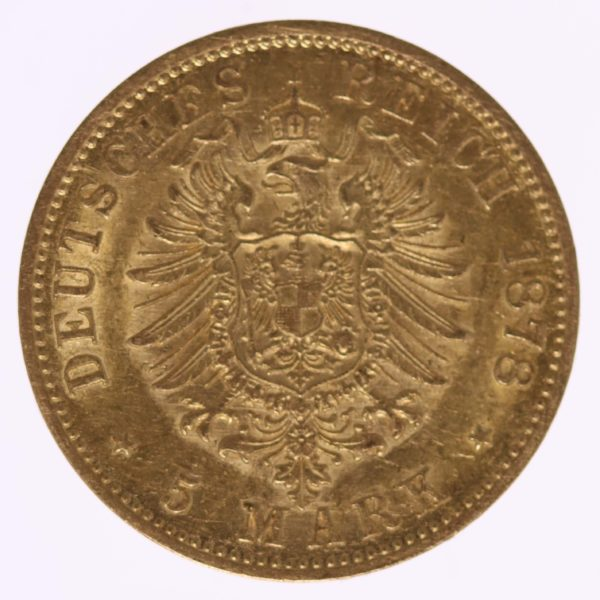 deutsches-kaiserreich-ab-1871 - Preussen Wilhelm I. 5 Mark 1878 A