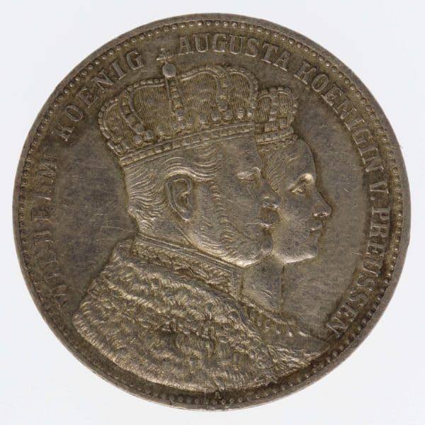 altdeutschland-deutsche-silbermuenzen - Preussen Wilhelm I. Vereinstaler 1861