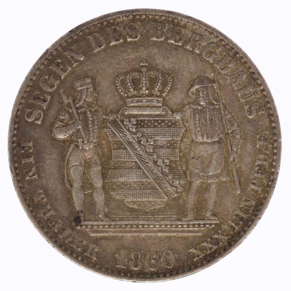 altdeutschland-deutsche-silbermuenzen - Sachsen Johann Ausbeutevereinstaler 1860 B