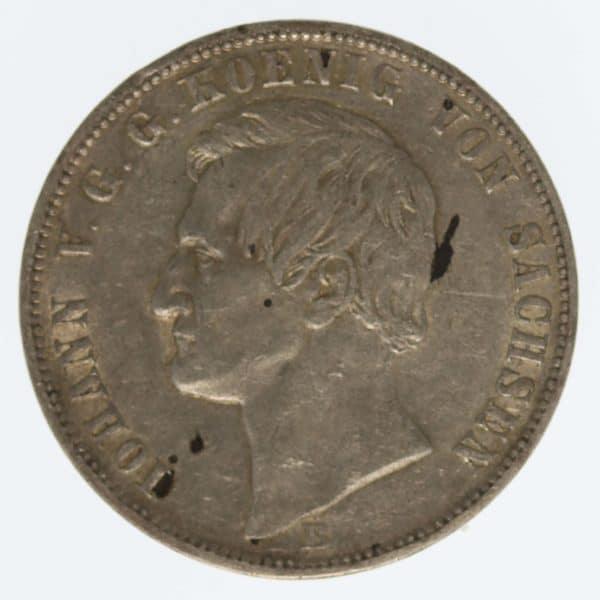 altdeutschland-deutsche-silbermuenzen - Sachsen Johann Vereinstaler 1864 B