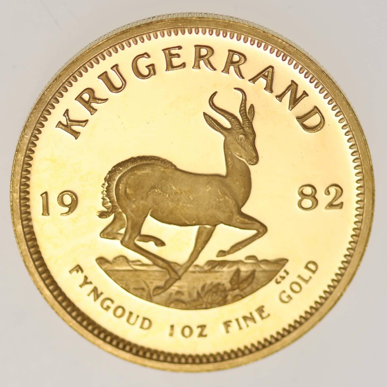 suedafrika - Südafrika Krügerrand 1 Unze 1982