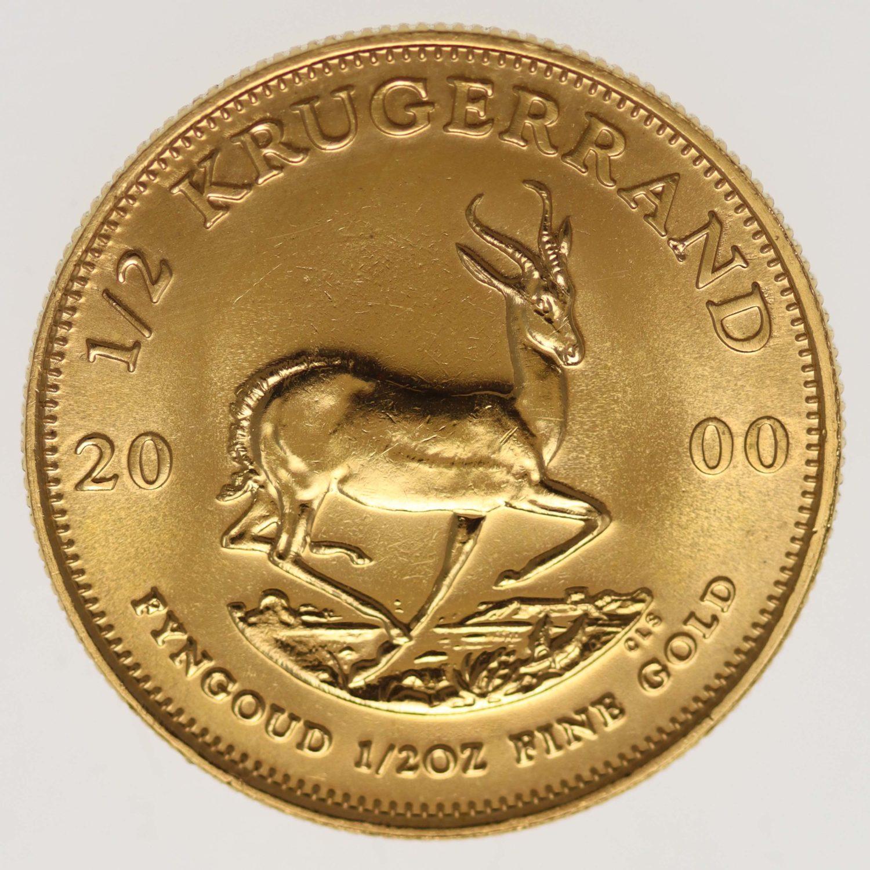 suedafrika - Südafrika Krügerrand 1/2 Unze 2000
