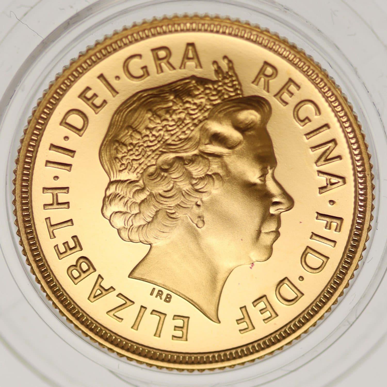 grossbritannien - Großbritannien und Jersey Elisabeth II. Sovereign Set 2000