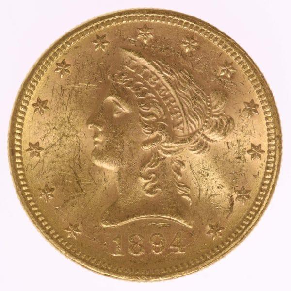 usa - USA 10 Dollars 1894 Liberty / Kopf