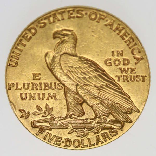usa - USA 5 Dollars 1913 Indianer