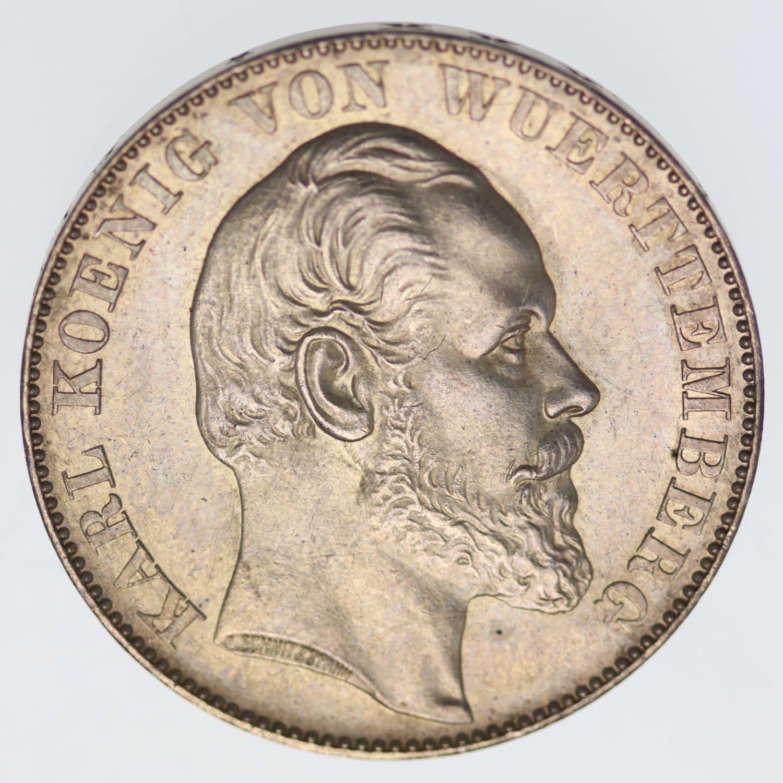 altdeutschland-deutsche-silbermuenzen - Württemberg Karl Vereinstaler 1871
