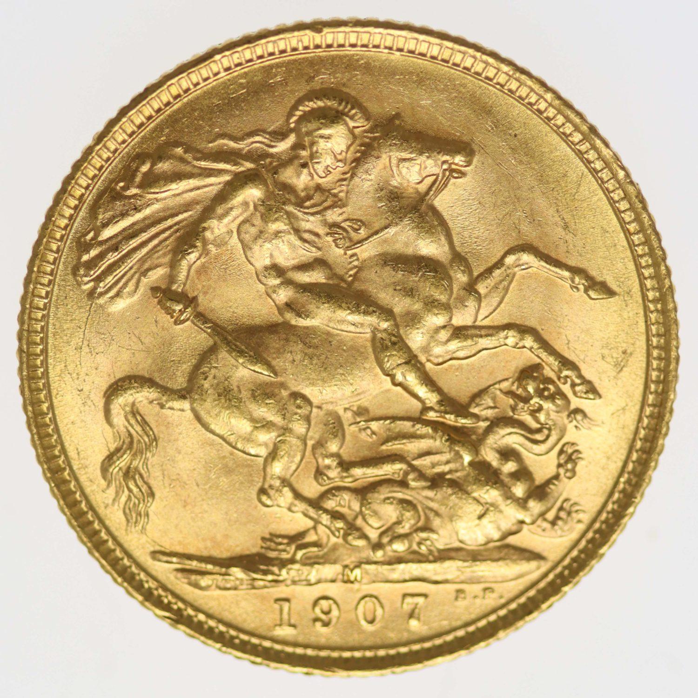 australien - Australien Edward VII. Sovereign 1907 M