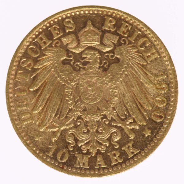 deutsches-kaiserreich-ab-1871 - Bayern Otto 10 Mark 1900 D