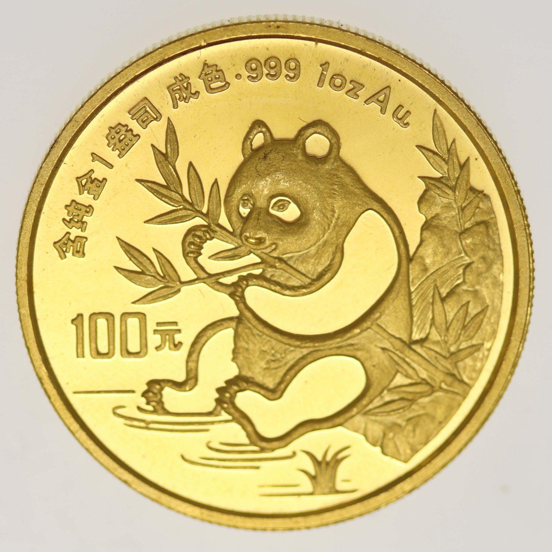 china - China Panda 1 Unze 1991