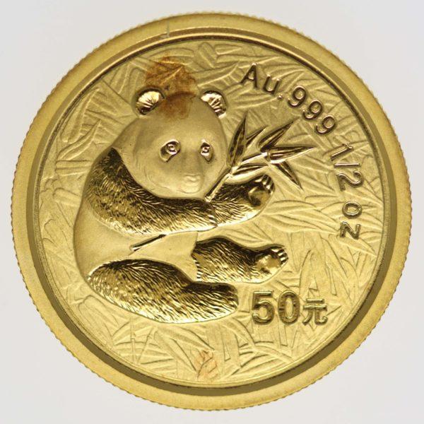 china - China Panda 1/2 Unze 2000