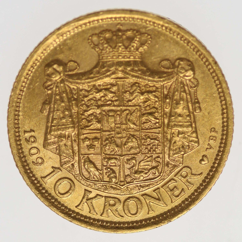 daenemark - Dänemark Frederik VIII. 10 Kronen 1909