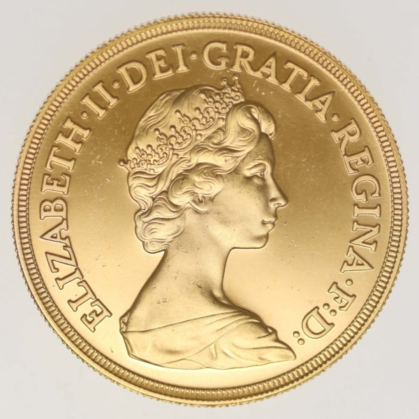 grossbritannien - Großbritannien Elisabeth II. 5 Pounds 1980