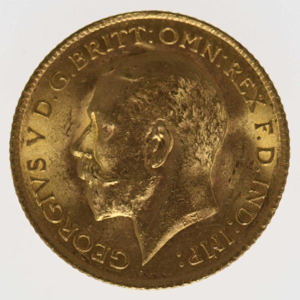 grossbritannien - Großbritannien Georg V. Half Sovereign 1915
