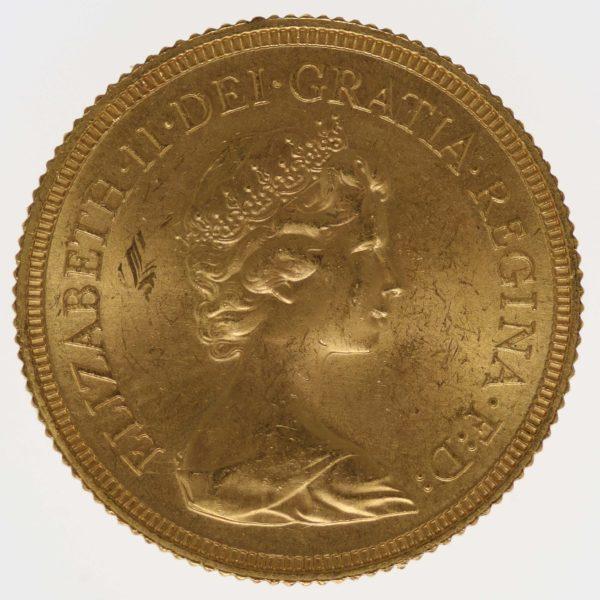 grossbritannien - Großbritannien Elisabeth II. Sovereign 1974