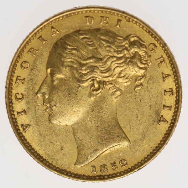 grossbritannien - Großbritannien Victoria Sovereign 1852