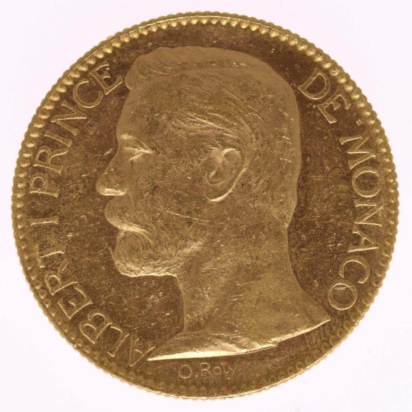 monaco - Monaco Albert I. 100 Francs1901