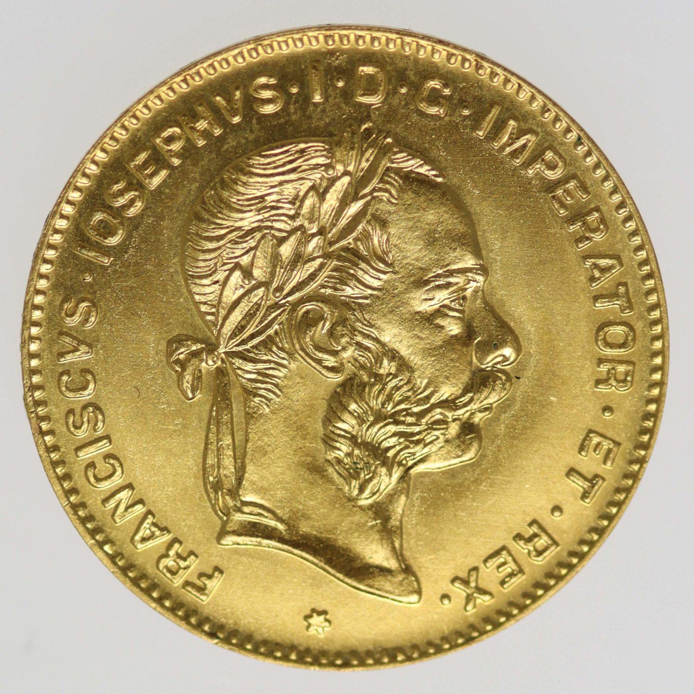oesterreich - Österreich Kaiserreich Franz Joseph I. 4 Florin / 10 Franken 1892 NP