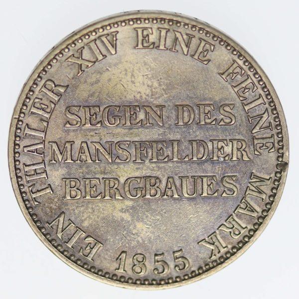 altdeutschland-deutsche-silbermuenzen - Preussen Friedrich Wilhelm IV. Taler 1855