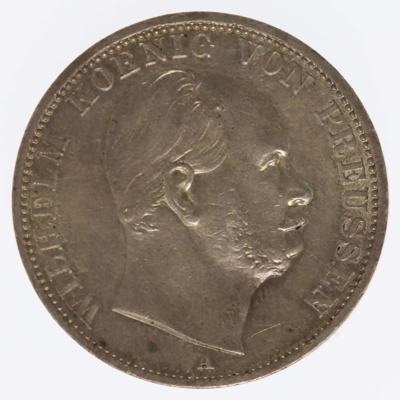 altdeutschland-deutsche-silbermuenzen - Preussen Wilhelm I. Taler 1871