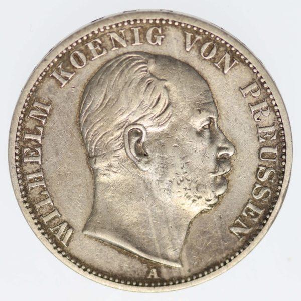 altdeutschland-deutsche-silbermuenzen - Preussen Wilhelm I. Vereinstaler 1867 A