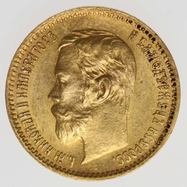 russland - RusslandNikolaus II. 5 Rubel 1901