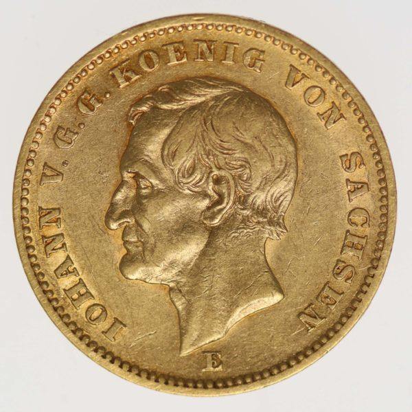 deutsches-kaiserreich-ab-1871 - Sachsen Johann 20 Mark 1872