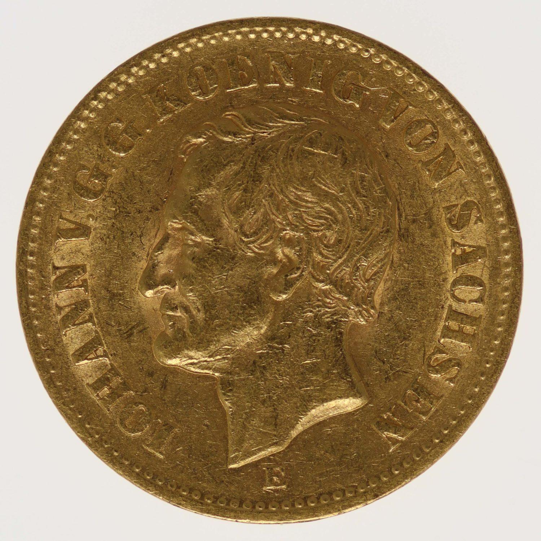 deutsches-kaiserreich-ab-1871 - Sachsen Johann 20 Mark 1873