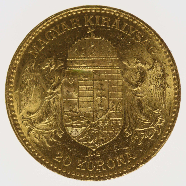 ungarn - Ungarn Franz Joseph I. 20 Kronen 1894